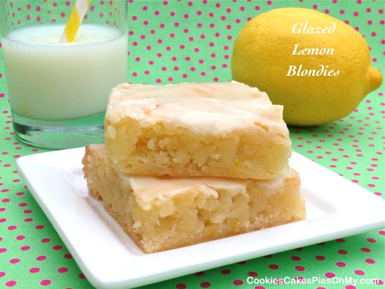Glazed Lemon Blondies