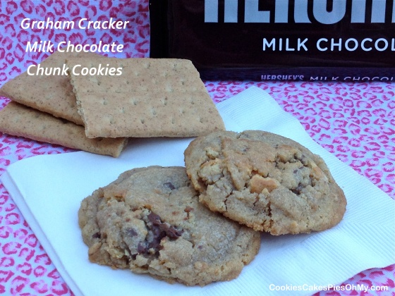 Graham Cracker Milk Chocolate Chunk Cookies