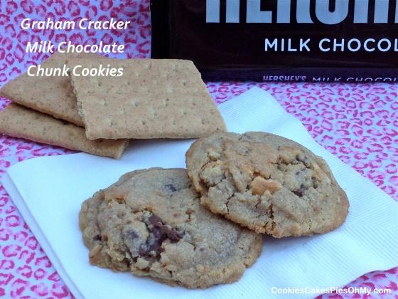 Graham Cracker Milk Chocolate Chunk Cookies