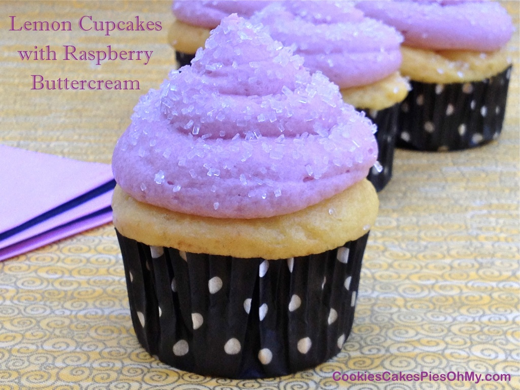 Lemon Cupcakes with Raspberry Buttercream 1