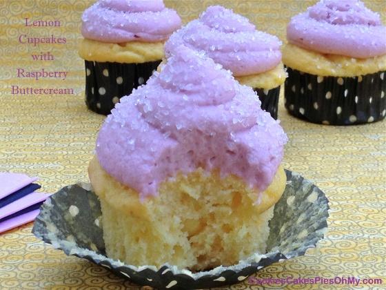 Lemon Cupcakes with Raspberry Buttercream 2