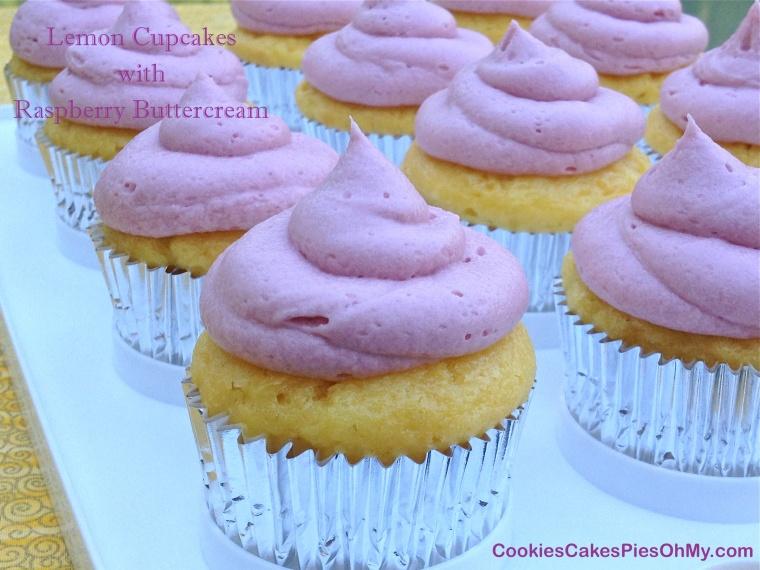 Lemon Cupcakes with Raspberry Buttercream 3