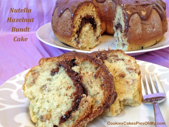 Nutella Hazelnut Bundt Cake