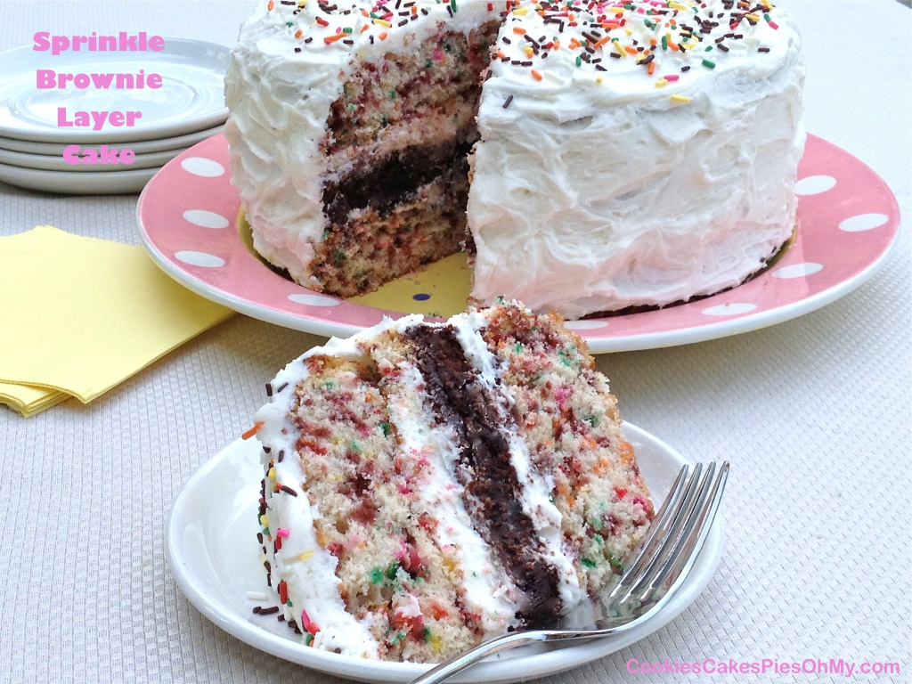 Sprinkle Brownie Layer Cake 2