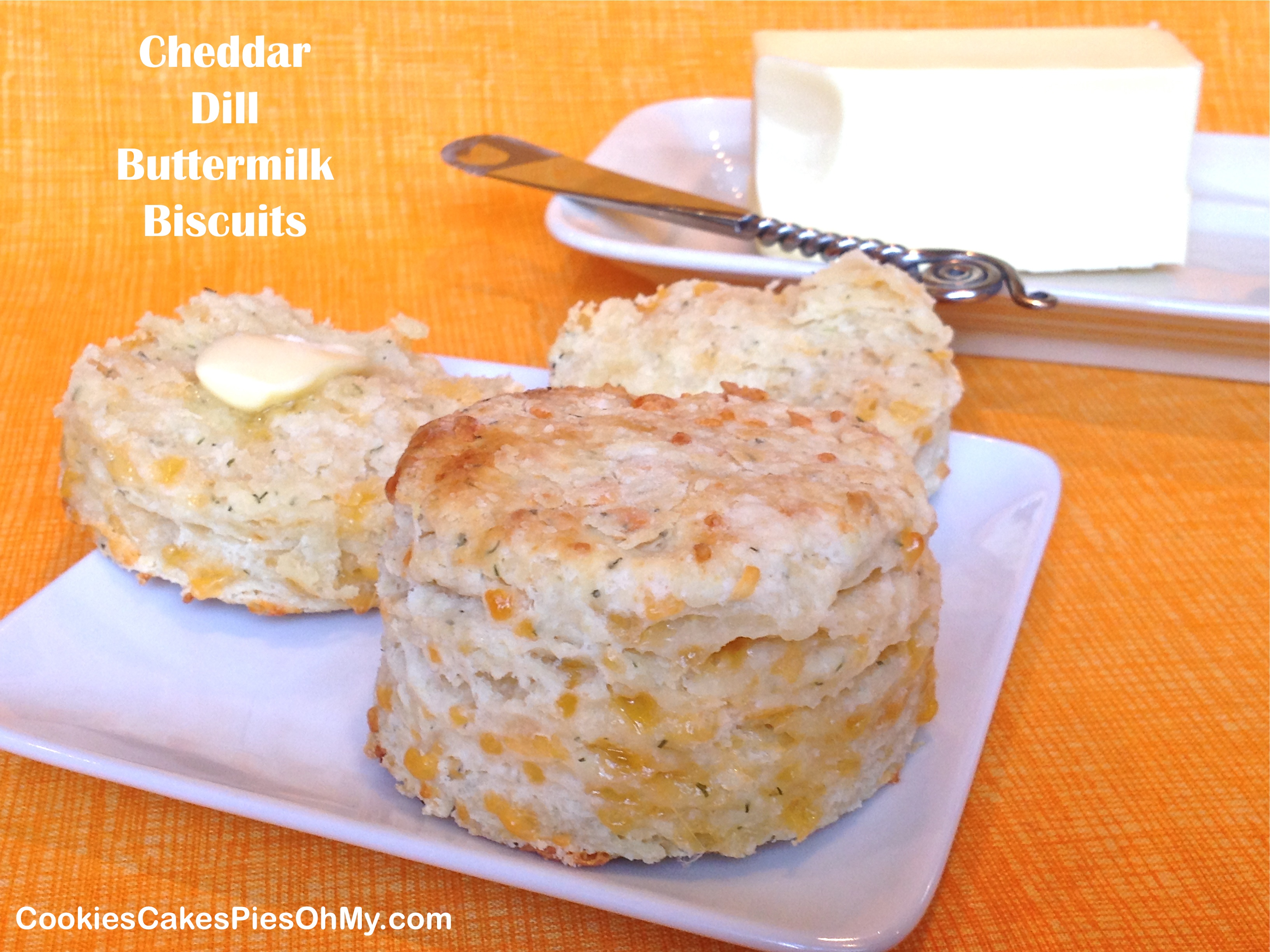 Buttermilk Biscuits With Cheddar And Dill Recipe — Dishmaps