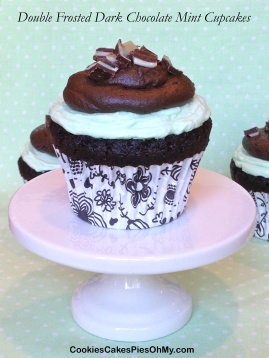 Double Frosted Dark Chocolate Mint Cupcakes 2