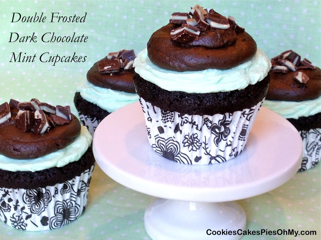 Double Frosted Dark Chocolate Mint Cupcakes