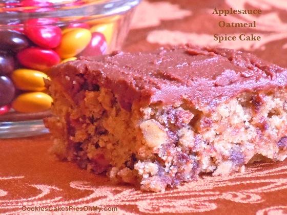 Applesauce Oatmeal Spice Cake