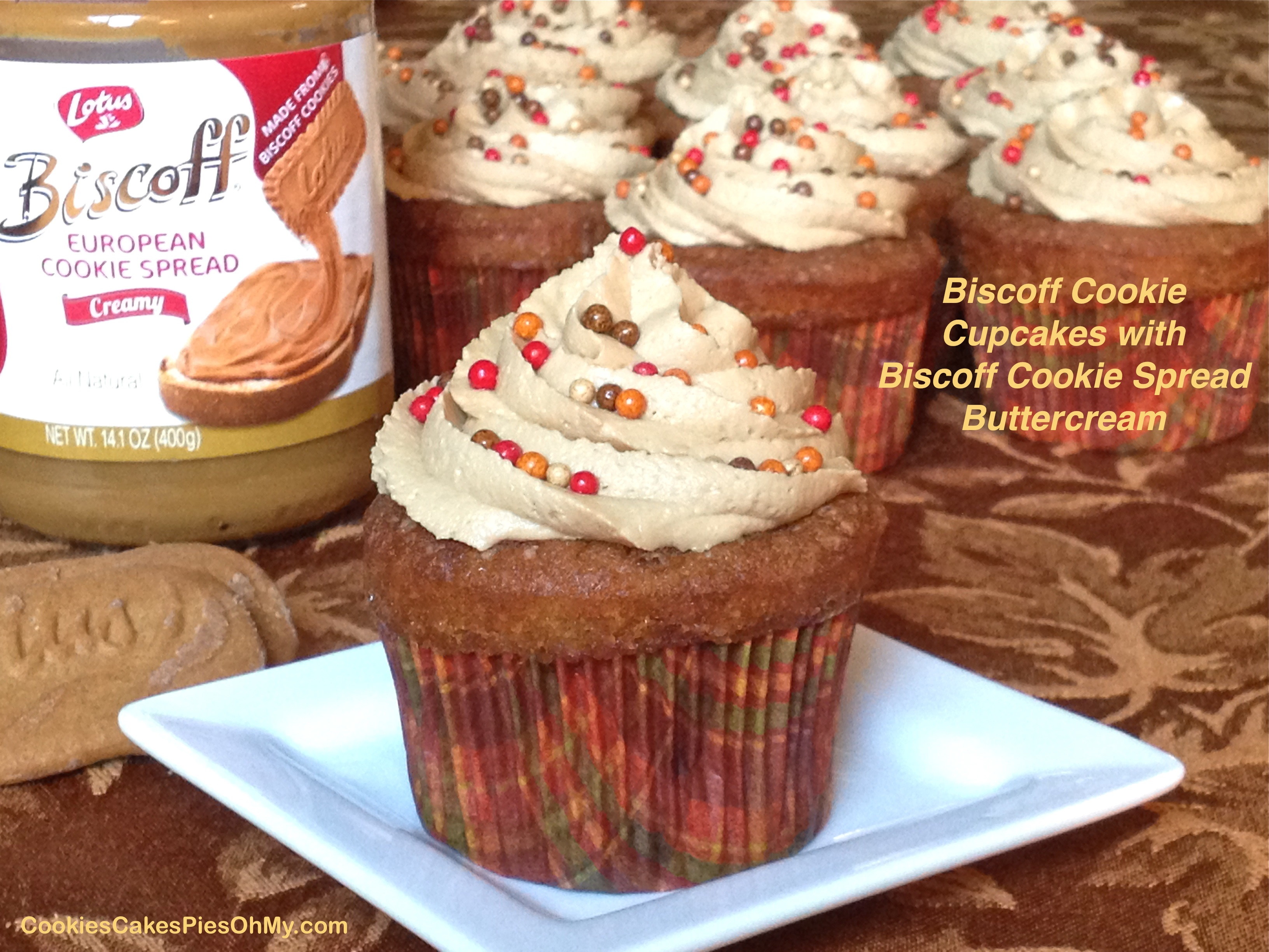 Biscoff Cookie Cupcakes with Biscoff Cookie Spread Buttercream