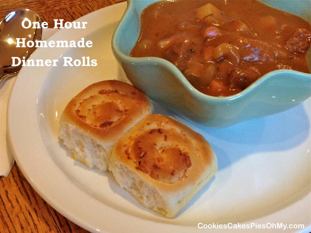 One Hour Homemade Dinner Rolls