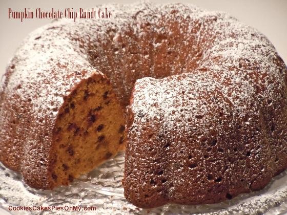 Pumpkin Chocolate Chip Bundt Cake | CookiesCakesPiesOhMy