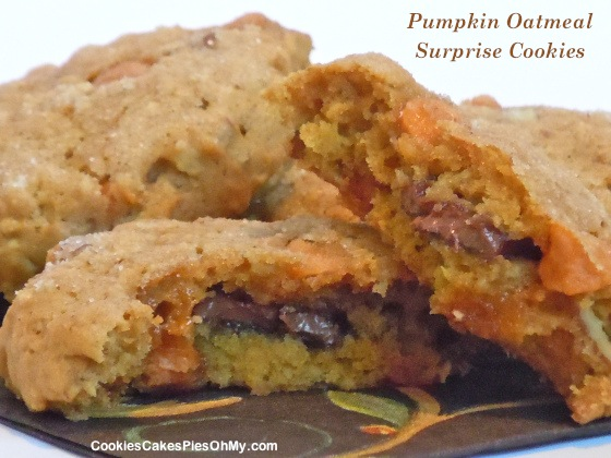 Pumpkin Oatmeal Surprise Cookies