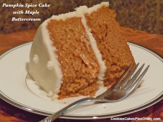 Pumpkin Spice Cake with Maple Buttercream
