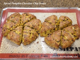 Spiced Pumpkin Chocolate Chip Scones 3