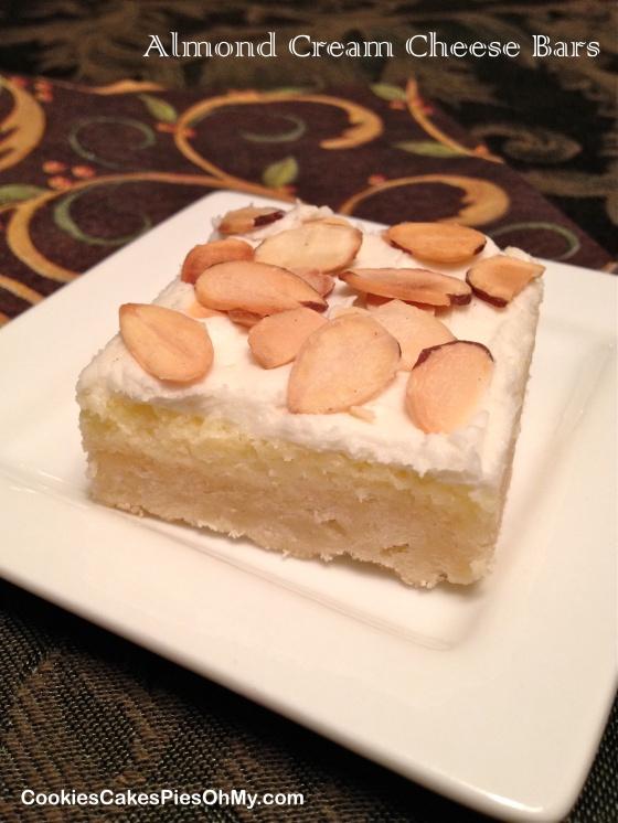 Almond Cream Cheese Bars