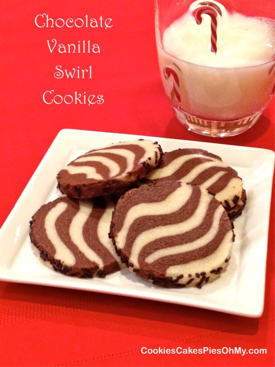 Chocolate Vanilla Swirl Cookies