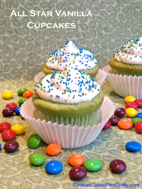 All Star Vanilla Cupcakes 1