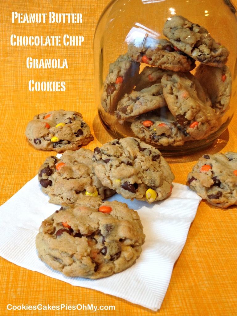Peanut Butter Chocolate Chip Granola Cookies
