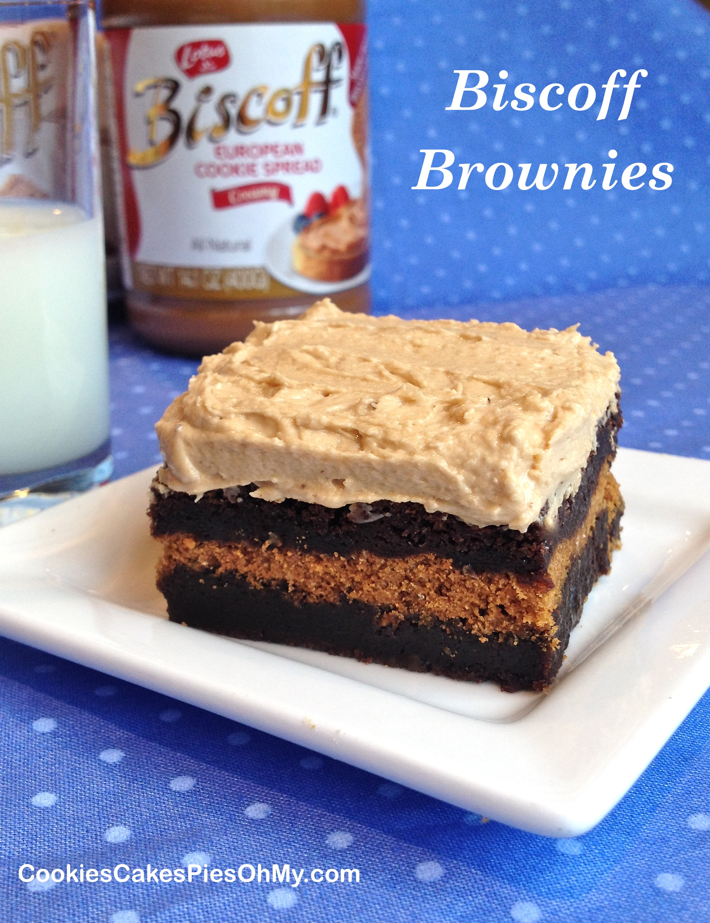 Biscoff Brownies with Biscoff Cookie Spread Frosting ...