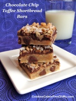 Chocolate Chip Toffee Shortbread Bars