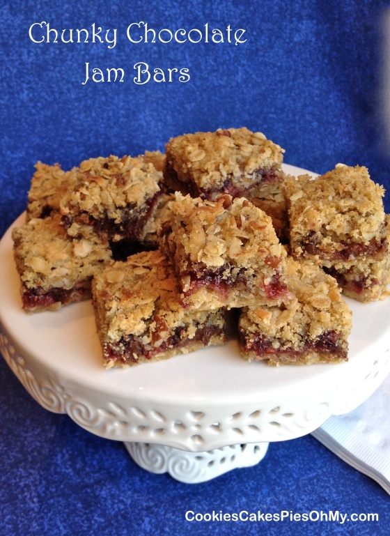 Chunky Chocolate Jam Bars