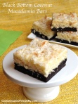 Black Bottom Coconut Macadamia Bars
