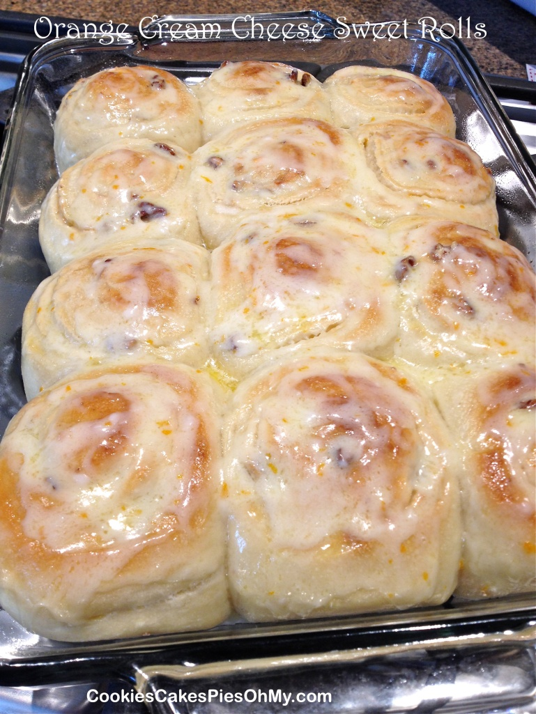 Orange Cream Cheese Sweet Rolls 1