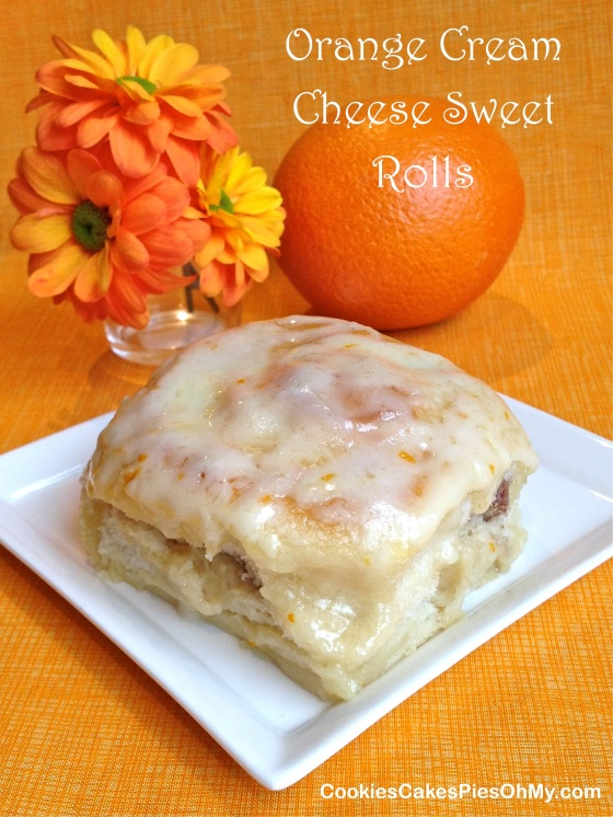 Orange Cream Cheese Sweet Rolls