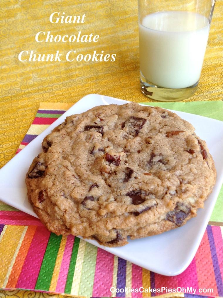 Giant Chocolate Chunk Cookies