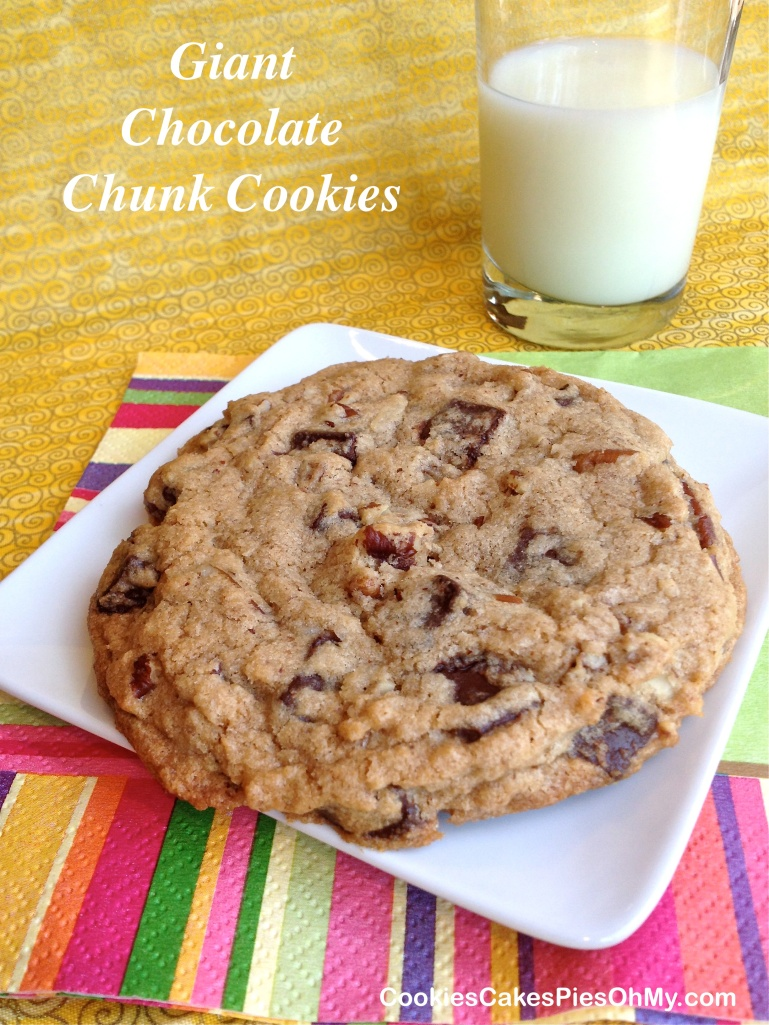Giant Chocolate Chunk Cookies