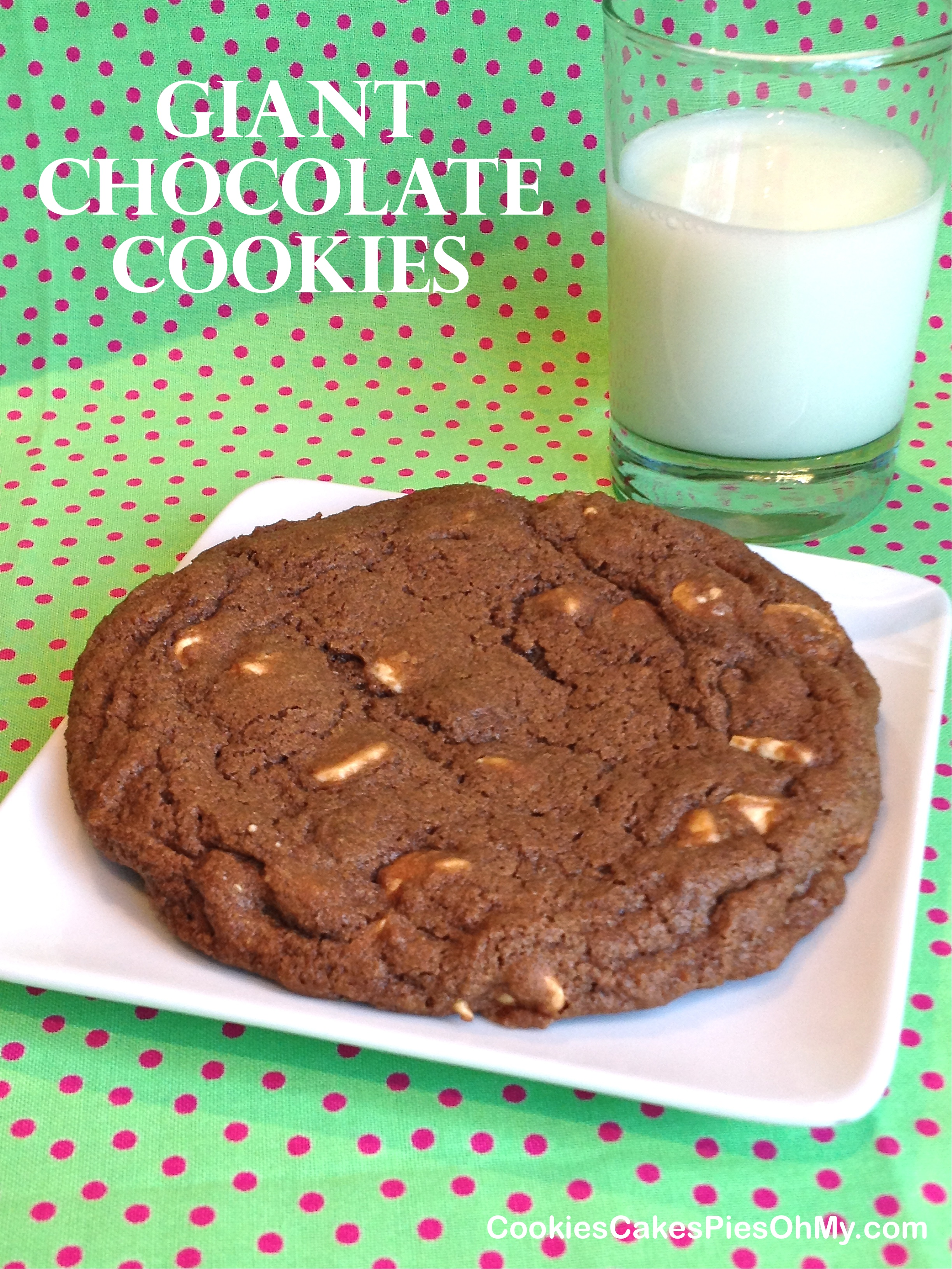 Giant Chocolate Cloud Cookies Recipe — Dishmaps