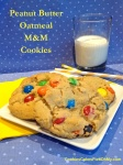 Peanut Butter Oatmeal M&M Cookies