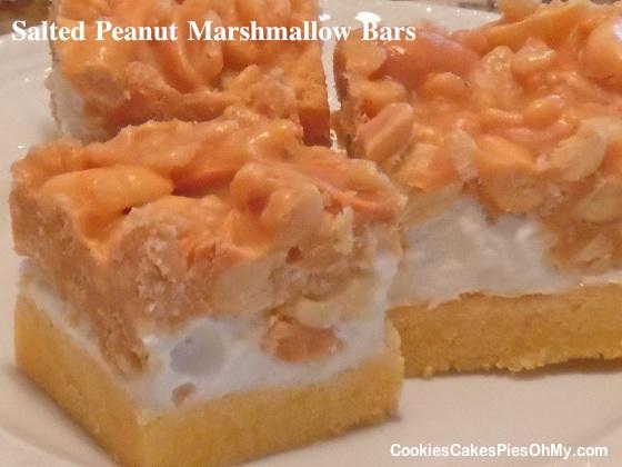 Salted Peanut Marshmallow Bars