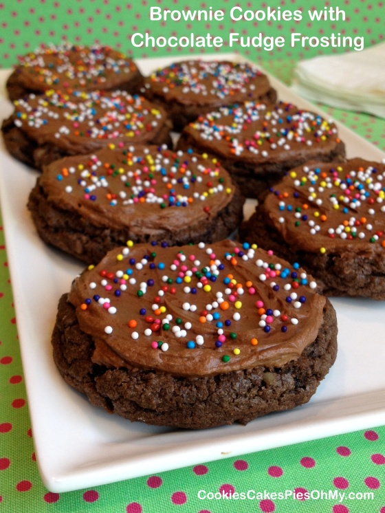 Brownie Cookies with Chocolate Fudge Frosting 2