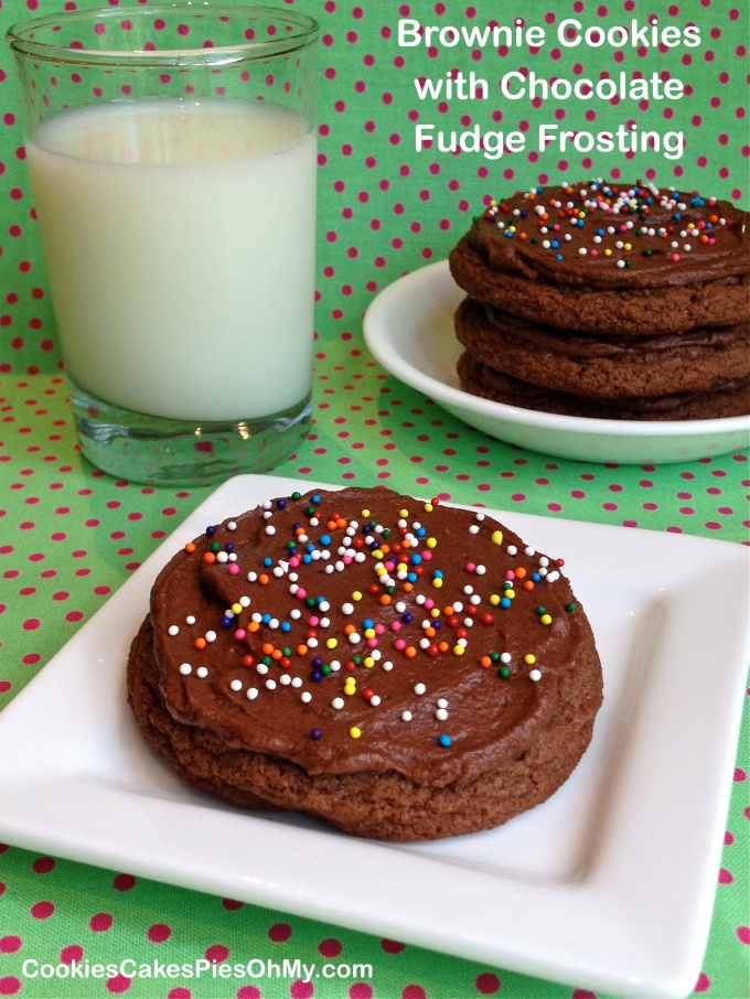 Brownie Cookies with Chocolate Fudge Frosting