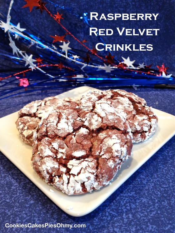 Raspberry Red Velvet Crinkles