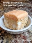 Orange Creamsicle Rice Krispies Treats