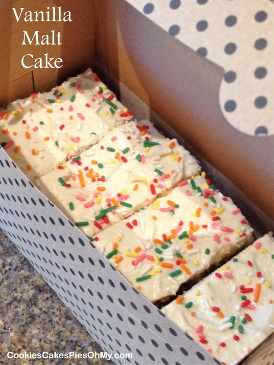 Vanilla Malt Cake