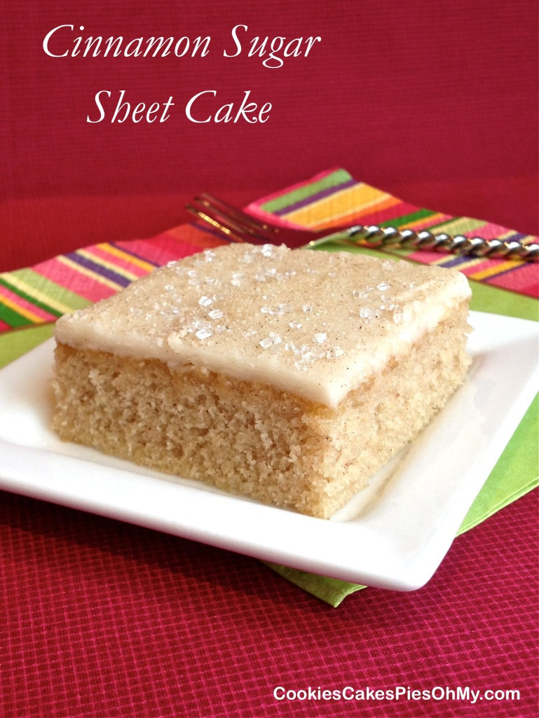 Cinnamon Sugar Sheet Cake