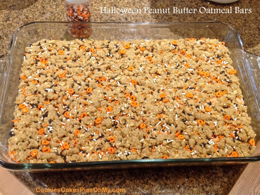 Halloween Peanut Butter Oatmeal Bars 2