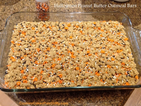 Halloween Peanut Butter Oatmeal Bars 2