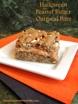 Halloween Peanut Butter Oatmeal Bars