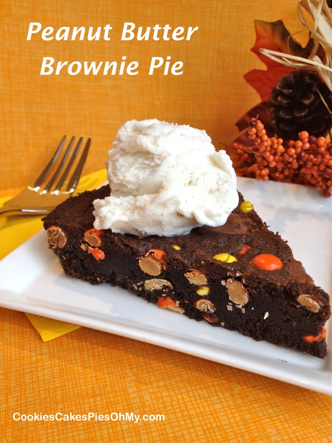Peanut Butter Brownie Pie