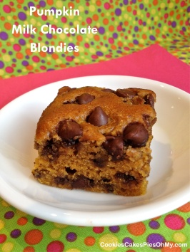 Pumpkin Milk Chocolate Blondies