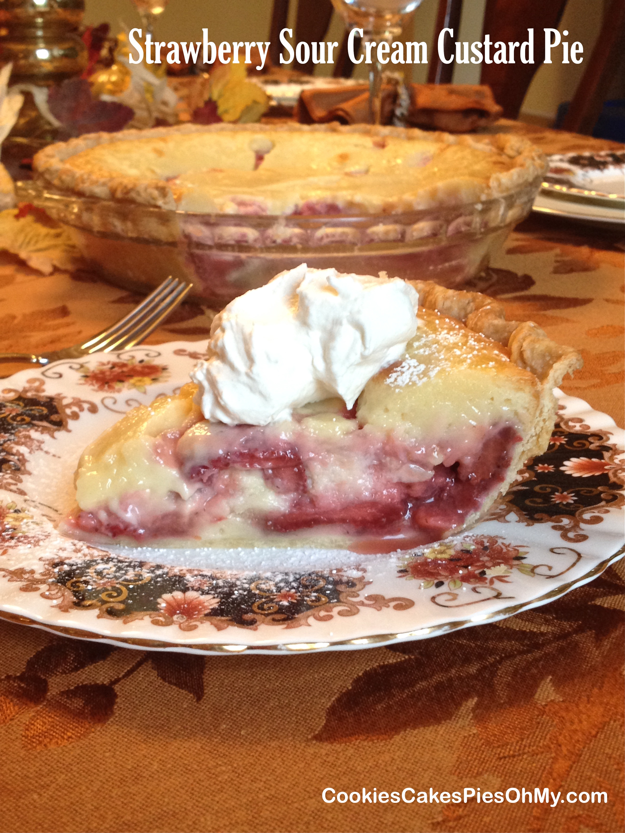 ... strawberry layer with a creamy custard layer. I love this pie