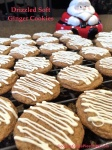 Drizzled Soft Ginger Cookies