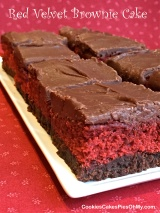 Red Velvet Brownie Cake