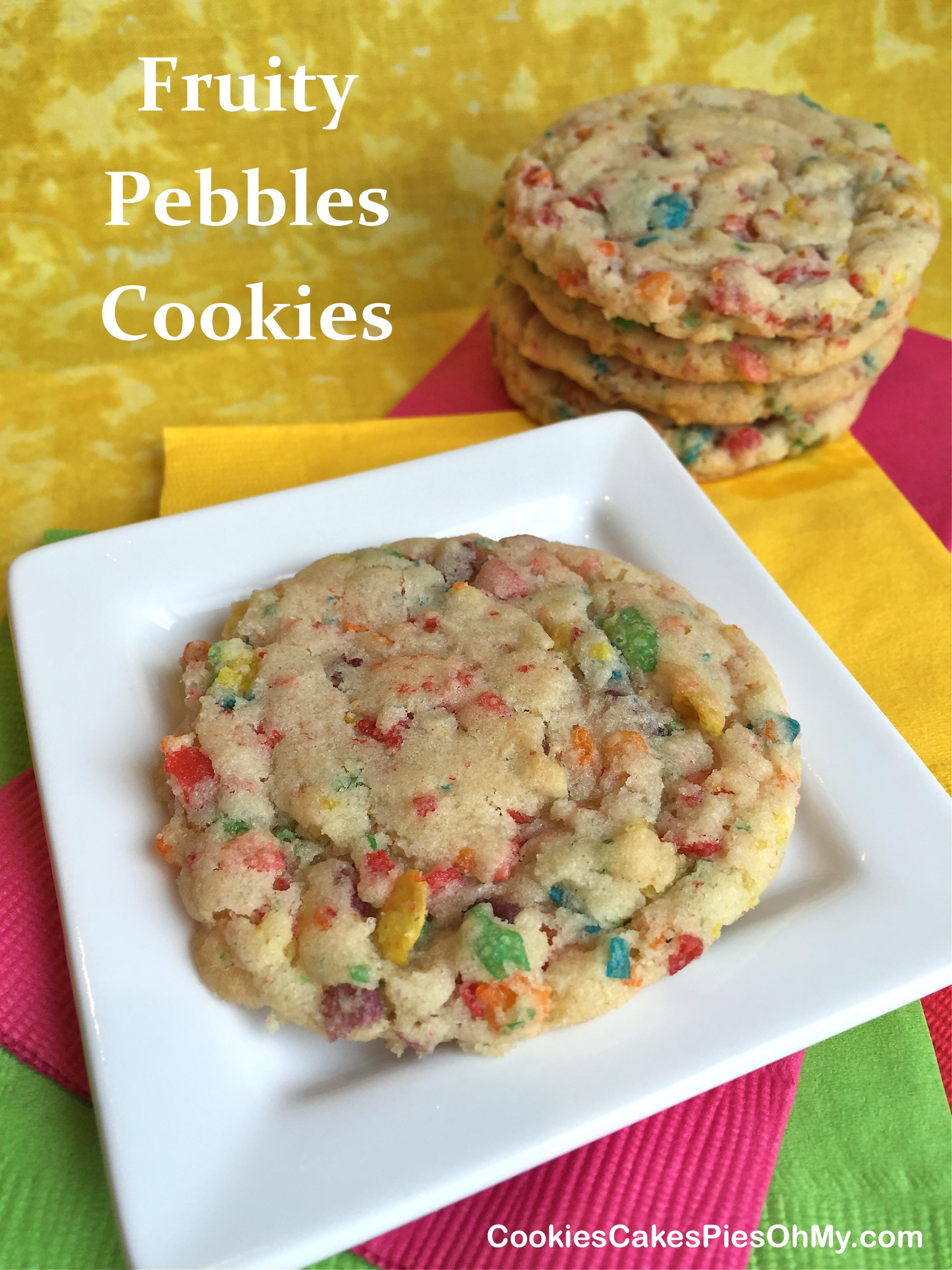 Fruity Pebbles Cookies | CookiesCakesPiesOhMy