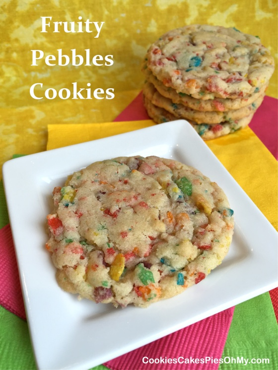 Fruity Pebbles Cookies Made With Cake Mix