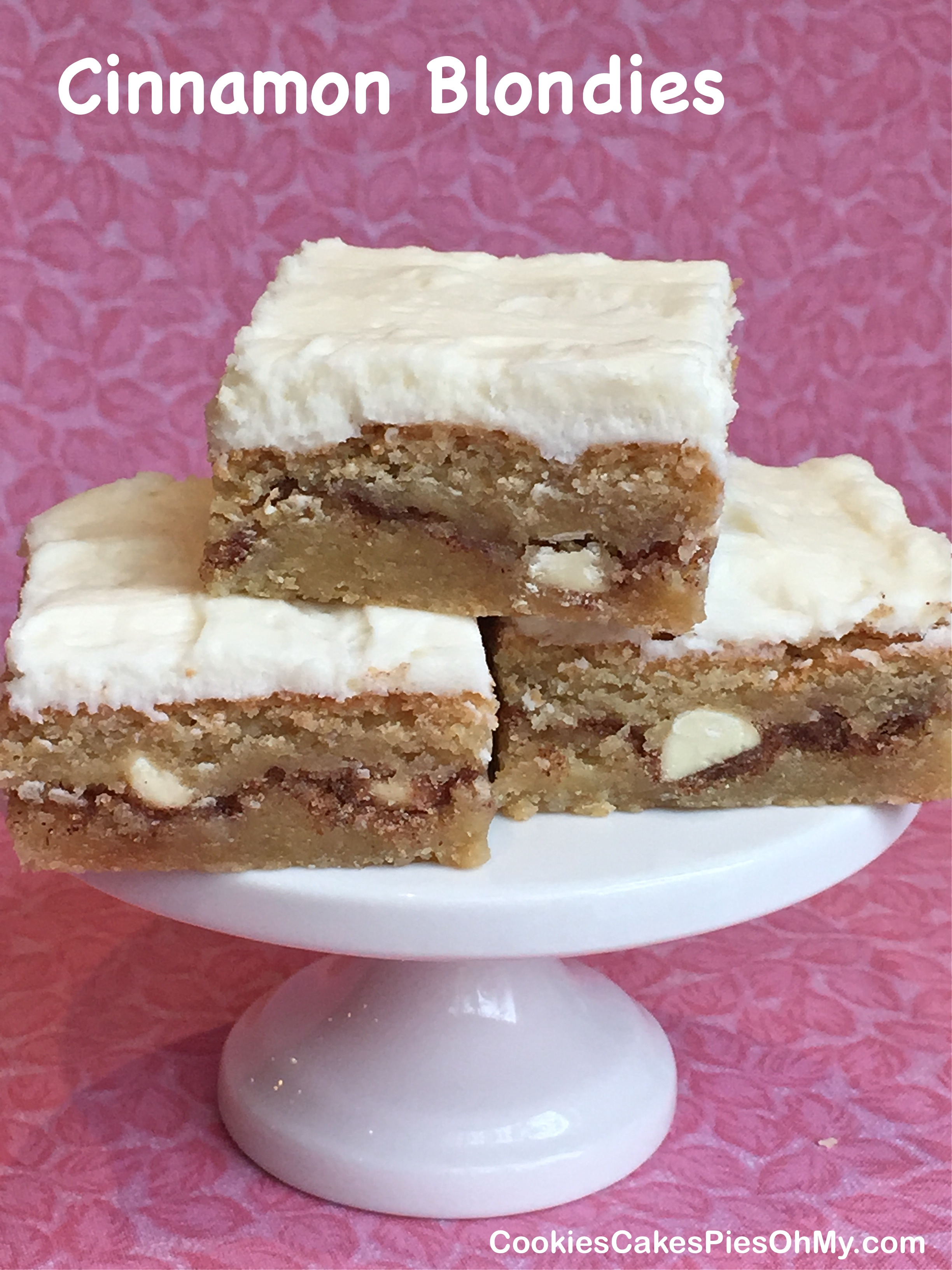 ... cinnamon roll blondies these delicious cinnamon swirled blondies have